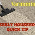 quick vacuuming tips