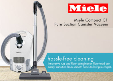 1. Miele Compact C1 Pure Suction Canister Vacuum Cleaner