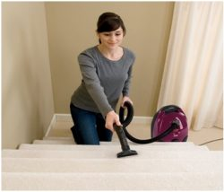 Vacuuming Carpeted Stairs