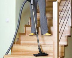 Vacuuming Hardwood Stairs