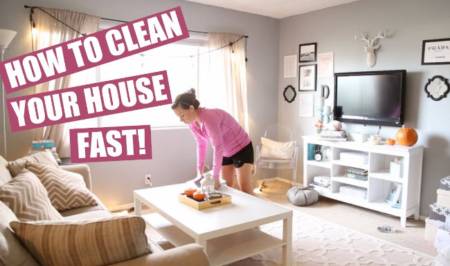 get your house clean fast