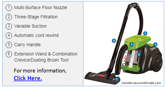 Full Review Of Bissell Zing Bagless Canister Vacuum 2156a