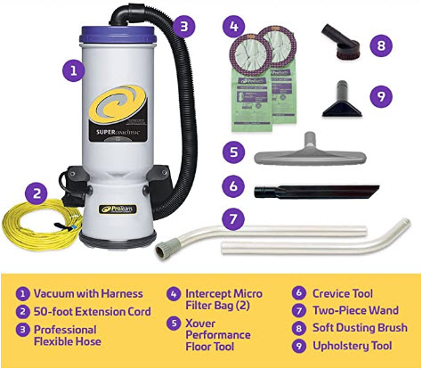 ProTeam Commercial Backpack Vacuum, 107109