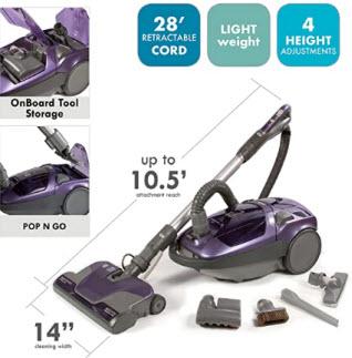 • Kenmore 81614 600 Series Bagged Canister Vacuum with Pet PowerMate
