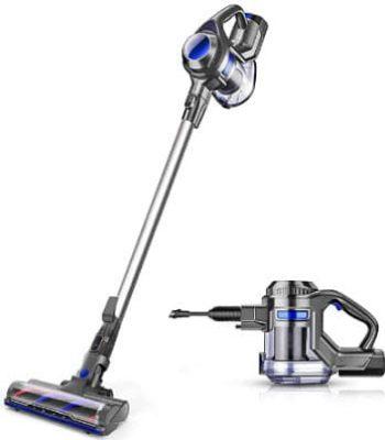 MOOSOO Cordless Vacuum 4 in 1 Stick & Handheld Vacuum, XL-618A
